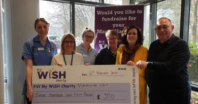 Masons fundraising efforts give a boost to the Macmillan Unit