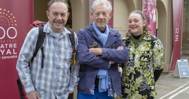 Sir Ian McKellen gives his support to the 200 for 200 walk in aid of the Theatre Royal