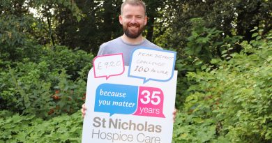 Walk raised funds for St Nicholas Hospice Care