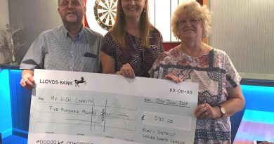 Darts players give a boost to the Every Heart Matters appeal