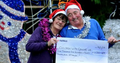 £1,130 raised for Children with Cancer UK from festive display