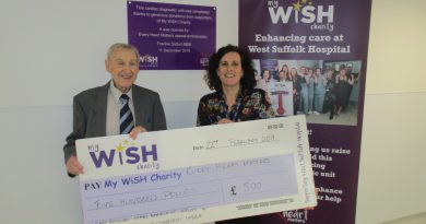 Freemasons give a £500 boost to the My WiSH Charity